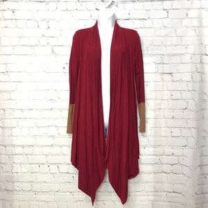 Reborn J S Rayon Blend Red Duster Cardigan